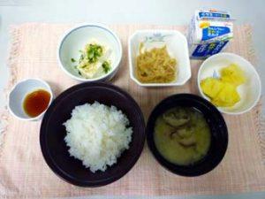 朝食 : 御飯の例