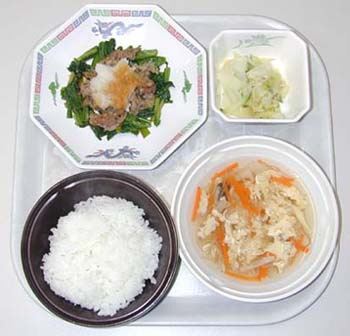牛肉と青菜の生姜ソース